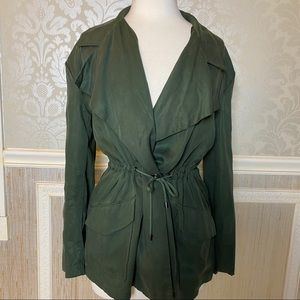 Cupcakes and Cashmere M NWT army tie waist jacket